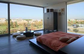 modern japanese bedroom home design