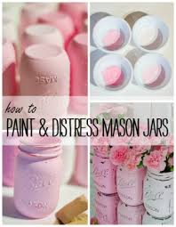 How To Paint A Glass Vase With Acrylic Paint Painted Mason Jars Pink Mason Jar Crafts Love