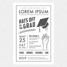 Black And White Invitation Card Vintage Graduation Party Invitation Card U2014 Stock Vector Ivan