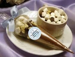 hot cocoa favors bridal shower hot cocoa cone favors edible bridal shower favors