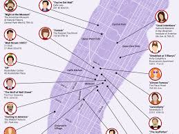 New York City Map Map Of Iconic Movie Locations In New York City Business Insider
