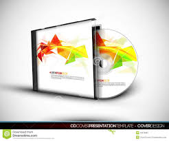Cd Cover Design With 3d Presentation Template Stock Vector Free Cd Template