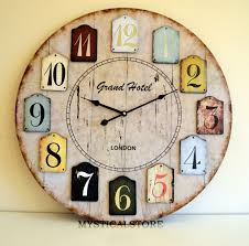 40cm large wood london wall clock vintage retro antique shabby