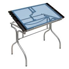 Glass Top Drafting Drawing Table Studio Designs Folding Glass Top Craft Station 13220