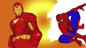spiderman and ironman and hulk coloring pages youtube
