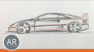 auto design studium autos zeichnen lernen in der seitenansicht