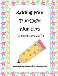 adding four two digit numbers by jenny adkins teachers pay teachers