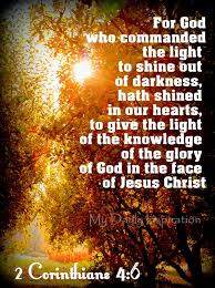 light in the darkness verse god commanded the light to shine out of darkness