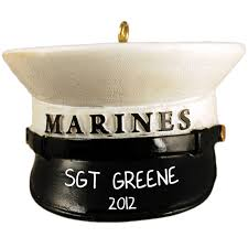marines hat personalized ornament usmc