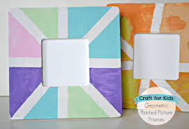 the life of jennifer dawn geometric painted picture frame craft