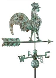 Horse Weathervane On Stand Antique Blue Patina Rooster From Weathervane Cupola World Com