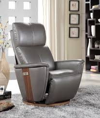 buy furniture link voss grey leather electric recliner chair
