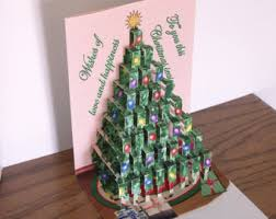 christmas tree card etsy