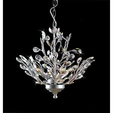 Silver Chandelier 4 Light Silver And Leaves Chandelier Chandelier