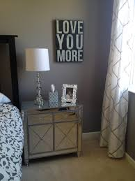 Mirrored Bedroom Furniture Bedroom Furniture Modern Mirrored Nightstand Drawer Grey Frame