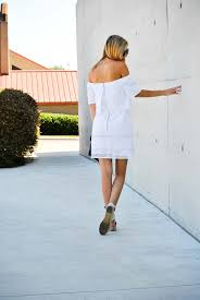 white off the shoulder dress archives the chic burrow