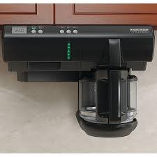 black and decker cabinet black decker sdc750 spacemaker under cabinet coffee maker cabinet
