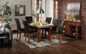 7 Pc Dining Room Sets by Helix 7 Piece Dining Room Set Oak Leon U0027s