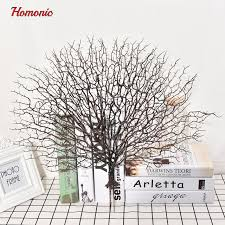 decorative tree branches wedding decoration peacock coral branch plastic decoration tree