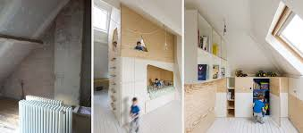 chambre enfant comble une chambre d enfant sous les combles avec une vraie cabane perchée