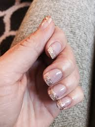 white with copper glitter french tips perfect for fall yelp
