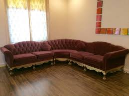 Velvet Sectional Sofa Bernhardt Sectional Sofa Octagon Shaped Sofa 70s 80s