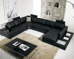 Sectional Sofa Set 5pc Black Leather Sectional Sofa Set 44lt35blkhl