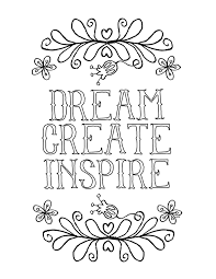 printable page of quotes inspirational coloring pages to download and print for free
