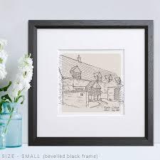 hand drawn bespoke house sketch by letterfest notonthehighstreet com