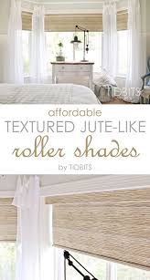 White Bedroom Blinds Affordable Textured Jute Like Roller Shades Master Bedroom