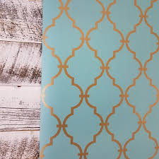 york modern trellis quatrefoil turquoise gold wallpaper u2013 d marie