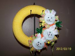 fuzzy easter fuzzy easter bunny carrot fabric wreath decorations wall door