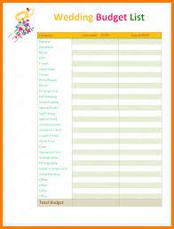 wedding budget planner 8 wedding budget list xavierax