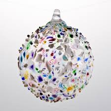 multicolored speckle glass ornament boyce glass
