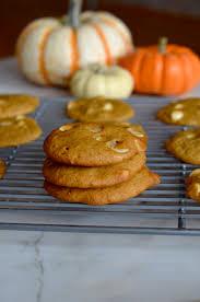 pumpkin spice white chocolate cookies mikey u0027s in my kitchen