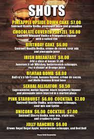 cocktail drinks menu drinks menu ye olde falcon pub