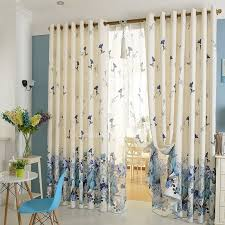 Floral Curtains Poly Cotton Blue Floral Curtains Bedroom Curtains