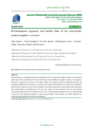 environmental exposure and health risks of the insecticide monocrotop u2026