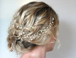 hair crystals pearl hair vine wedding hair accessoriescustomised