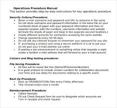 sample operations manual template 10 free documents in pdf word