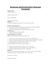 Business Graduate Resume Business Administration Sample Resume Haadyaooverbayresort Com