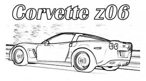 corvette z06 car coloring pages printable free cars