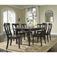 Huge Dining Room Tables Signature Design By Ashley Sharlowe Charcoal Large Dining Room