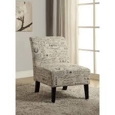 Home Decor Accent Linon Home Decor Eucalyptus Dark Walnut Linen Accent Chair