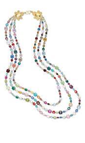 jewelry design triple strand necklace with swarovski crystal