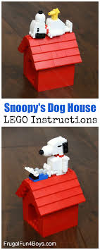 snoopy on his dog house snoopy and his dog house lego building