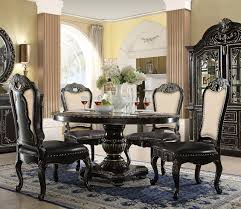gold dining table set aberdeen 60 round ebony gold dining table set d5188 6060
