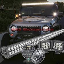 thar jeep white mxshl93 tech hardy white angel eye projector headlights for
