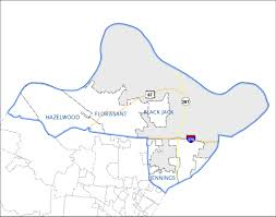 Missouri Zip Code Map 1st Precinct North County St Louis County Police