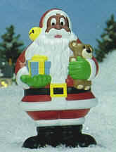 a black santa for the front yard look whose coming to
